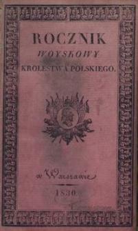 Rocznik Woyskowy Królestwa Polskiego. Na rok 1830