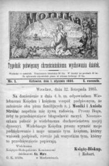 Monika, 1886, R. 1, nr 1