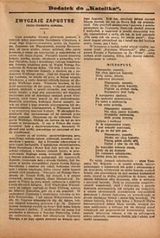 Dodatek do Katolika, 1909, nr4
