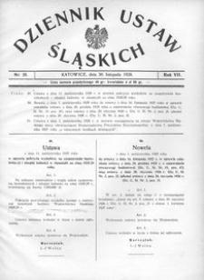 Dziennik Ustaw Śląskich, 30.11.1928, R. 7, nr 25