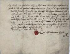 Oświadczenie Karola Ferdynanda Fraksteina z Naczesławic z 11.10.1683 r., że w okresie od 1.07. do 31.09.1683 r. na swoich dobrach Dolne Pogórze wyszynkował w swojej karczmie nie więcej niż 3 wiadra piwa, od czego zapłacił należną akcyzę