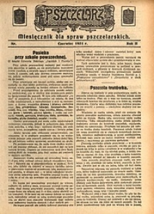 Pszczelarz, 1931, R. 2, nr6