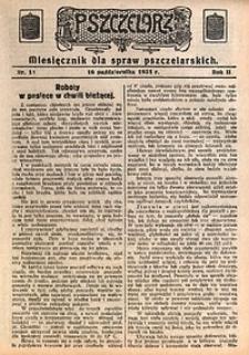 Pszczelarz, 1931, R. 2, nr11