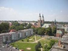 Głubczyce. Panorama miasta widziana z wieży ratuszowej, 2008-2010 r.