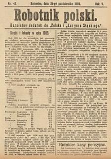 Robotnik Polski, 1909, nr43