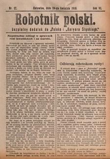 Robotnik Polski, 1910, nr17