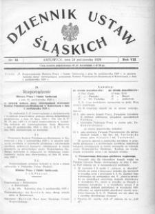 Dziennik Ustaw Śląskich, 24.10.1929, R. 8, nr 14