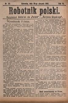 Robotnik Polski, 1910, nr33