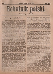 Robotnik Polski, 1912, nr8