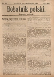 Robotnik Polski, 1912, nr39