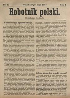 Robotnik Polski, 1914, nr19