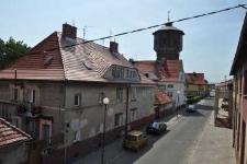 Głubczyce. Ulica Słowackiego i widok na wieżę ciśnień, 2012 r.