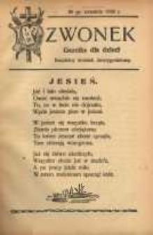 Dzwonek, 30 września [właśc. 14 października] 1926