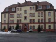 Głubczyce. Odbudowany budynek po koszarach przy ulicy Żeromskiego, 2006 r.