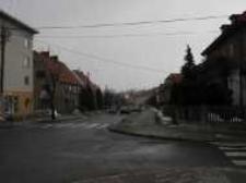 Głubczyce. Skrzyżowanie ulic: Powstańców, Sobieskiego i Bończyka, 2006 r.