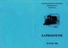 Zaproszenie na harcerski piknik kolejowy , 2008 r.