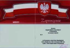 Zaproszenie na Wieczornicę z okazji Dnia Niepodległości, 2008 r.