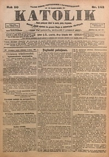 Katolik, 1917, R. 50, nr143