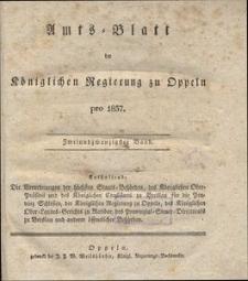 Amts-Blatt der Königlichen Regierung zu Oppeln pro 1837, 22 Bd.