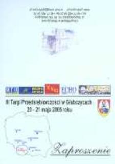 Zaproszenie na III Targi Przedsiębiorczości, 2005 r.