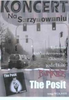 """Zaproszenie na Koncert zespołów """"Bunkier"""", """"The Posit"""", 2009 r."""