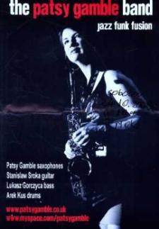 """Zaproszenie na koncert zespołu """"The Patsy Gamble Band"""", 2009 r."""