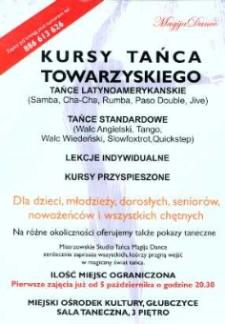 Zaproszenie na kursy tańca towarzyskiego, 2009 r.
