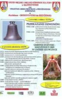 Zaproszenie na dwudniowe uroczystości w Krzyżowicach, 2009 r.