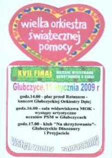 Zaproszenie na XVII Finał Wielkiej Orkiestry Świątecznej Pomocy, 2009 r.