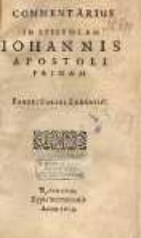 Commentarius in epistolam Iohannis apostoli primam