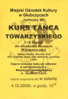 Zaproszenie na kurs tańca towarzyskiego, 2008 r.