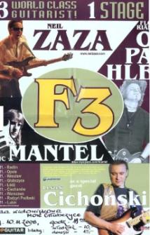Zaproszenie na koncert gitarowy F3, 2008 r.