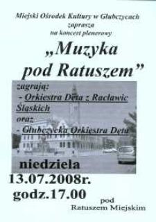 Zaproszenie na koncert plenerowy, 2008 r.