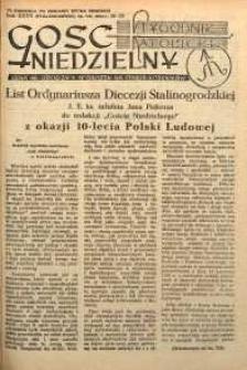 Gość Niedzielny, 1954, R. 27, nr 29