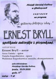 Zaproszenie na spotkanie autorskie z Ernestem Brylem, 2008 r.