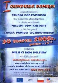 Zaproszenie na I Olimpiadę Pamięci, 2008 r.