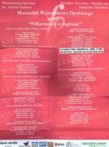 """Zaproszenie na koncert """"Filharmonia w regionie"""", 2008 r."""
