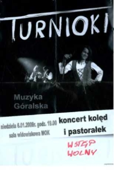 """Zaproszenie na koncert zespołu """"Turnioki"""", 2008 r."""