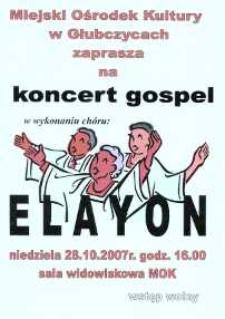 Zaproszenie na koncert muzyki gospel, 2007 r.