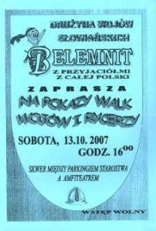 Zaproszenie na pokazy walk wojów i rycerzy, 2007 r.