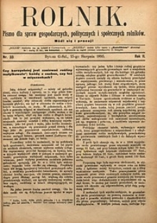 Rolnik, 1895, R. 2, nr33