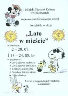 """Zaproszenie do wzięcia udziału w akcji """"Lato w mieście"""", 2007 r."""