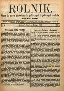 Rolnik, 1894, R. 1, nr5