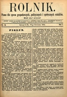 Rolnik, 1894, R. 1, nr16