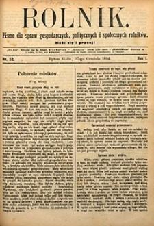 Rolnik, 1894, R. 1, nr52