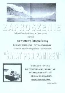 Zaproszenie na wystawę fotograficzną Lukáša Hrdličkiego i Pavla Swobody, 2007 r.