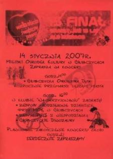 Zaproszenie na XV Finał Wielkiej Orkiestry Świątecznej Pomocy, 2007 r.