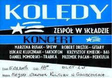Zaproszenie na koncert kolęd, 2007 r.