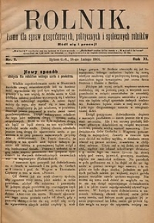 Rolnik, 1904, R.11, nr7