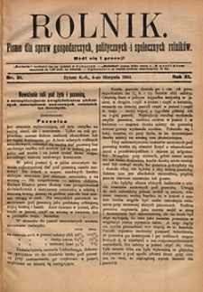 Rolnik, 1904, R.11, nr31